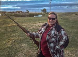 Killion Slade on her home ranch in Montana