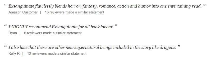 Exsanguinate Book Reviews